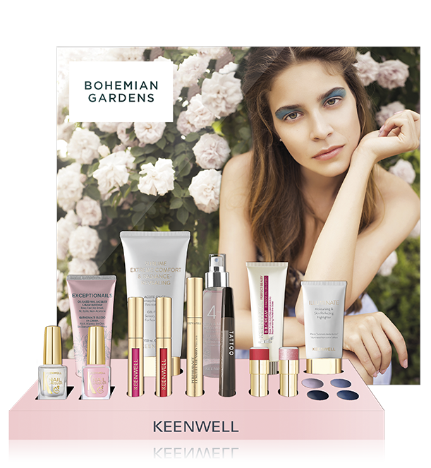 Makeup Display - Bohemian Gardens