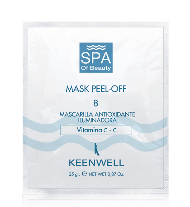 MASK PEEL-OFF -8- ANTI OXIDANT LIGHTENING MASK WITH VITAMIN C+C