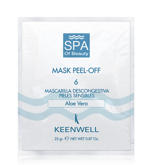 MASK PEEL-OFF -6 SENSITIVE SKIN DESCONGESTIVE MASK -WITH ACTIVALOE®