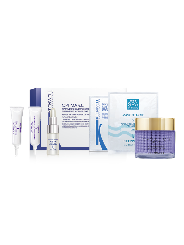 ANTI-WRINKLE PREMATURE AGING TREATMENT KIT OPTIMA Q10 - Evolution Sphere - Hydro-Nourishing Multifuntional Care