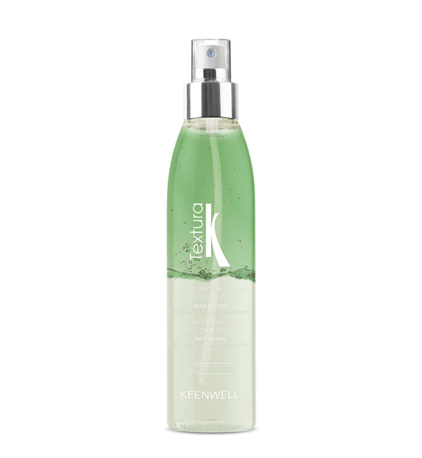 TEXTURA - Scented sublimating body dry oil & tonic - Triple Action - GREEN TEA